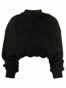 Alexander Wang cropped mock neck sweatshirt - Black