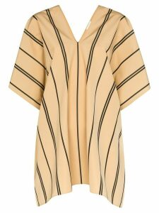 Jil Sander striped cotton top - NEUTRALS