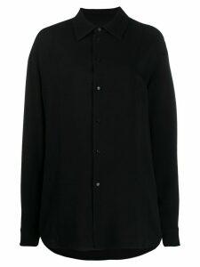 Jil Sander oversized button-up shirt - Black