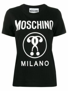 Moschino Double Question Mark print T-shirt - Black