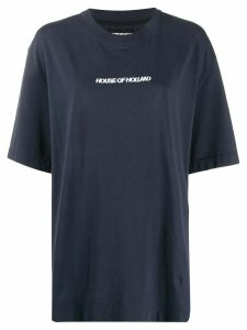 House of Holland oversized logo embroidered T-shirt - Blue