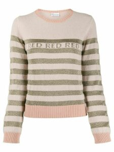 RedValentino RED striped crew neck jumper - NEUTRALS