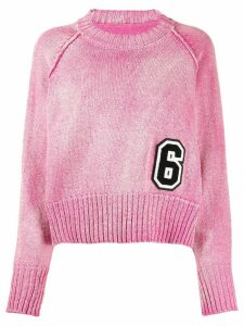 Mm6 Maison Margiela 6 logo patch jumper - PINK