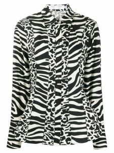 Proenza Schouler White Label zebra print shirt - Black