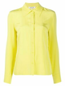 DVF Diane von Furstenberg Samson crepe de chine shirt - Yellow