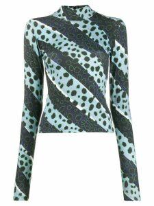 House of Holland cheetah stripe T-shirt - Blue