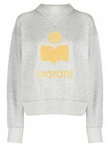 Isabel Marant Étoile logo print jumper - Grey