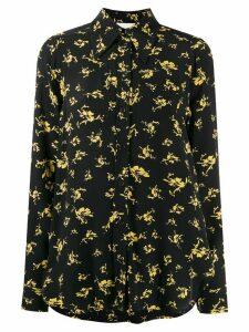 GANNI floral print shirt - Black