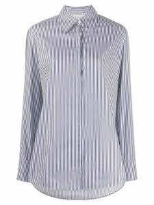 Victoria Victoria Beckham logo tape striped shirt - Blue