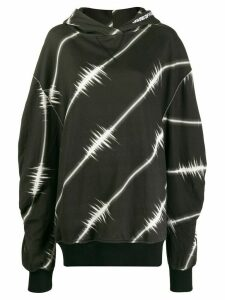 House of Holland sound wave print hoodie - Black