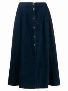 Forte Forte buttoned full skirt - Blue