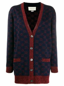 Gucci jacquard GG knitted cardigan - Blue