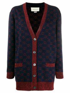 Gucci jacquard GG knitted cardigan - Blue