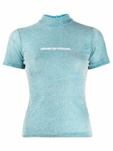 House of Holland lurex T-shirt - Blue