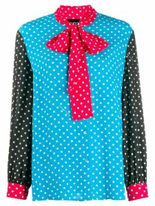 Boutique Moschino polka dot print blouse - Blue