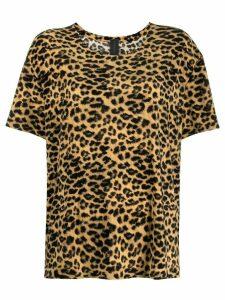 Norma Kamali leopard print T-shirt - Black