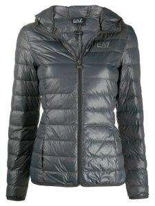 Ea7 Emporio Armani logo print puffer jacket - Grey