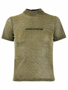 House of Holland lurex T-shirt - GOLD