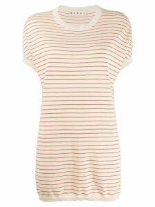 Marni striped tunic - NEUTRALS
