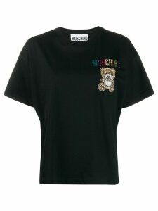 Moschino embroidered Teddy T-shirt - Black