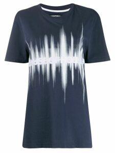 House of Holland soundwave print T-shirt - Blue