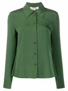 DVF Diane von Furstenberg Samson crepe de chine shirt - Green