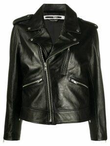 McQ Alexander McQueen cropped biker jacket - Black