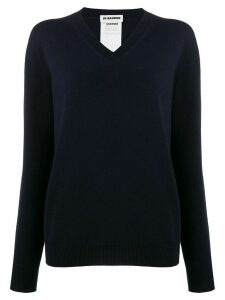 Jil Sander v-neck jumper - Blue
