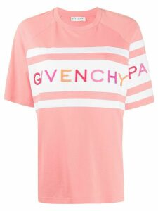 Givenchy embroidered logo oversized T-shirt - PINK
