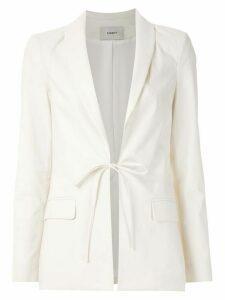 Egrey tied blazer - White