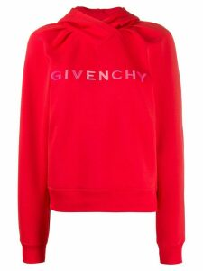 Givenchy lettering logo hoodie - Red