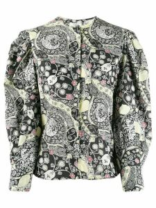 Isabel Marant Étoile Mexika graphic print shirt - Black