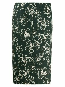 Aspesi high-waisted all-over print skirt - Green