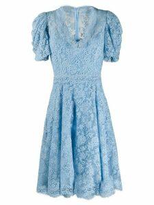 Ermanno Scervino flared lace dress - Blue