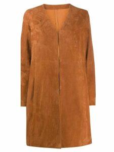 Drome structured midi coat - ORANGE