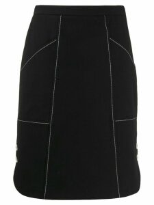 Piazza Sempione side button A-line skirt - Black