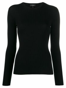 Theory ribbed jumper - Black