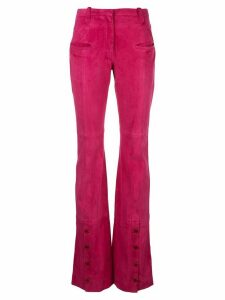 Altuzarra button detail flared trousers - PURPLE