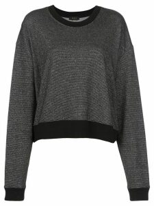 ALALA two-tone oversized sweatshirt - Black