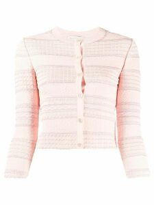 Alexander McQueen scalloped knit cardigan - PINK