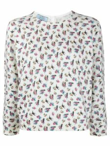 Prada floral print jumper - White