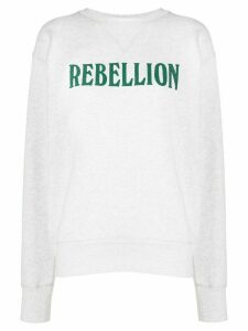 Isabel Marant Étoile Rebellion print jumper - NEUTRALS