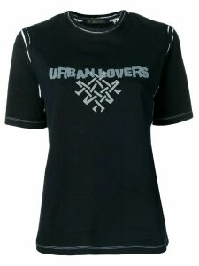 Mr & Mrs Italy printed 'urban lovers' T-shirt - Black