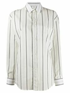 Maison Margiela relaxed striped shirt - White