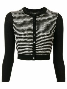 Paule Ka fine knit cropped cardigan - Black