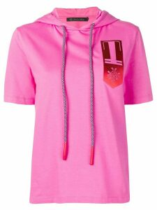 Mr & Mrs Italy hooded logo T-shirt - PINK