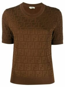 Fendi FF Pattern knitted top - Brown