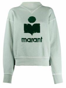 Isabel Marant Étoile logo print sweatshirt - Blue