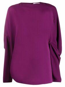 Chalayan Vogue Punctuation blouse - PURPLE