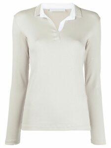 Fabiana Filippi long sleeved polo shirt - Grey